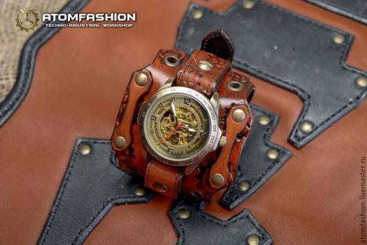 "Часы ручной работы. Ярмарка Мастеров - ручная работа. Купить Стимпанк часы мужские ""Арканум"". Handmade. Часы, часы наручные"