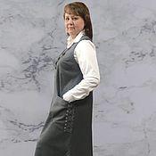 Одежда handmade. Livemaster - original item Sundress with lace (wool). Handmade.
