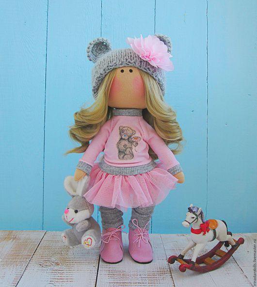 Куклы тыквоголовки ручной работы. Ярмарка Мастеров - ручная работа. Купить Куколка в свитшоте. Handmade. Розовый, кукла, коллекционные игрушки