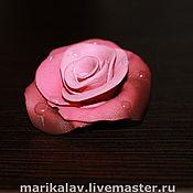Украшения ручной работы. Ярмарка Мастеров - ручная работа Брошь - утрення роза. Handmade.