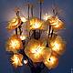 """Освещение ручной работы. Ярмарка Мастеров - ручная работа. Купить Букет-светильник """"Солнечный поцелуй"""". Handmade. Желтый, свет, цветы"""