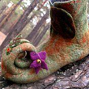 """Обувь ручной работы. Ярмарка Мастеров - ручная работа Валяные женские тапочки """"Лесная фея"""". Handmade."""