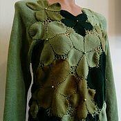 Одежда ручной работы. Ярмарка Мастеров - ручная работа Пуловер цветочный. Handmade.