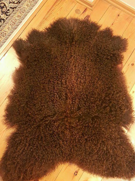 Текстиль, ковры ручной работы. Ярмарка Мастеров - ручная работа. Купить Шкурка козы для кукольных волос тёмная. Handmade. коврик