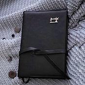 Канцелярские товары handmade. Livemaster - original item Needlewoman`s diary, leather notebook with silver brooch. Handmade.
