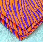 Материалы для творчества ручной работы. Ярмарка Мастеров - ручная работа Хлопок 100% Оранжевая зебра. Handmade.