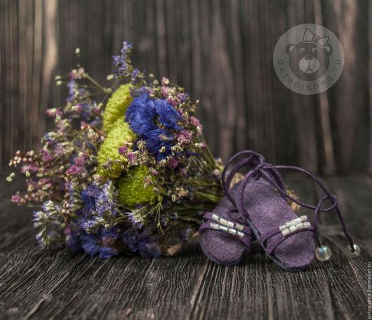Коллекционные куклы ручной работы. Ярмарка Мастеров - ручная работа. Купить Обувь для куклы. Handmade. Фиолетовый, ручная работа