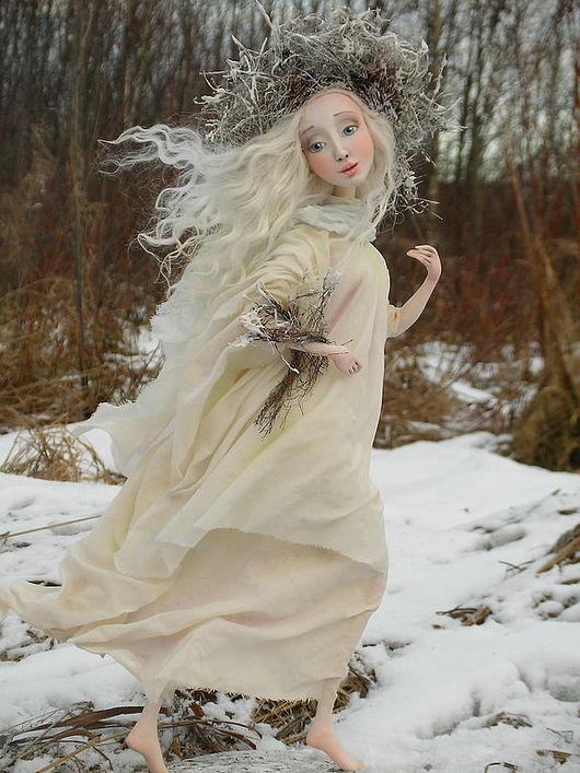 """Коллекционные куклы ручной работы. Ярмарка Мастеров - ручная работа. Купить Авторская кукла """"Снегурочка"""". Handmade."""