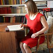 """Одежда ручной работы. Ярмарка Мастеров - ручная работа """"Маленькое красное платье"""" валяное платье. Нуновойлок.. Handmade."""