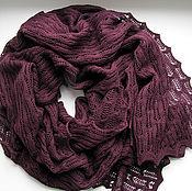 """Аксессуары ручной работы. Ярмарка Мастеров - ручная работа шарф """" Aurora"""" сливово-винный. Handmade."""