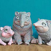 Куклы и игрушки ручной работы. Ярмарка Мастеров - ручная работа Тапиры. Handmade.