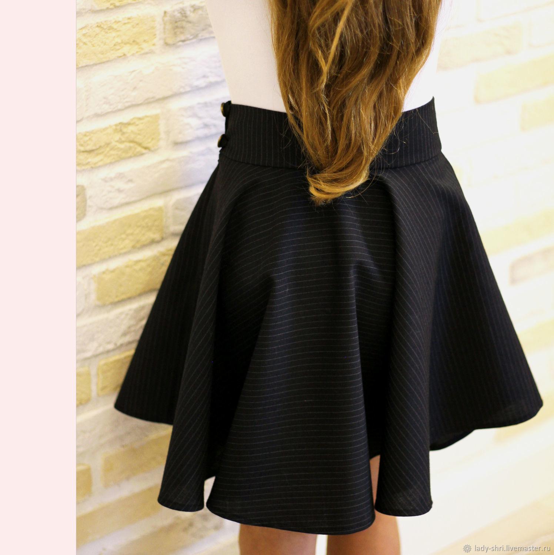9b51db9882e черная юбка солнце из шерсти офисная юбка в полоску шерстяная юбка деловая  юбка юбка в офис ...