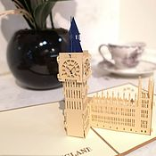 Модели ручной работы. Ярмарка Мастеров - ручная работа Биг Бен, Лондон - 3D открытка / сувенир ручной работы. Handmade.