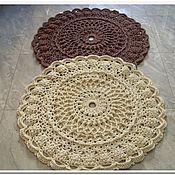 Для дома и интерьера handmade. Livemaster - original item Knitted Mat of cord DREAM-2. Handmade.