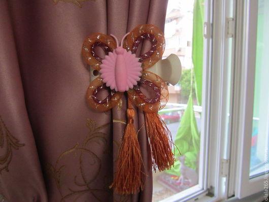 Текстиль, ковры ручной работы. Ярмарка Мастеров - ручная работа. Купить зажим для штор,а может и не для штор. Handmade. пластик