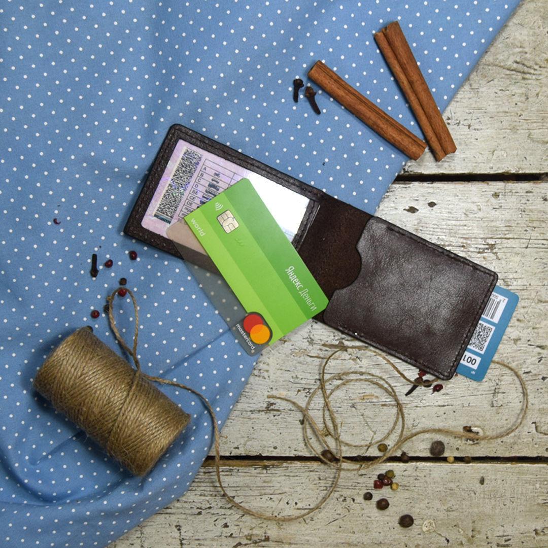 Обложка из кожи на водительское удостоверение в стиле минимализм, Органайзер, Минеральные Воды,  Фото №1