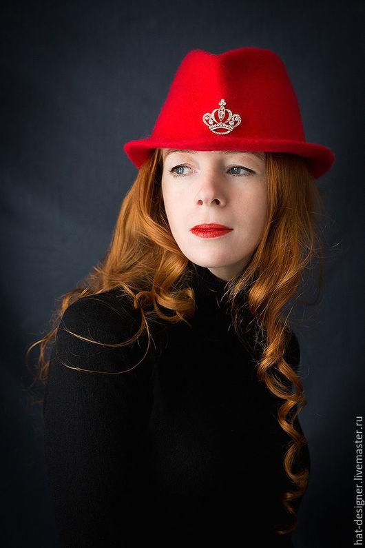 """Шляпы ручной работы. Ярмарка Мастеров - ручная работа. Купить Шляпка  женская """" Ledi Red"""". Handmade. Ярко-красный"""
