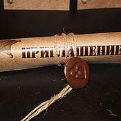 Свадебный салон ручной работы. Ярмарка Мастеров - ручная работа Приглашение на свадьбу в стиде Western (lite). Handmade.