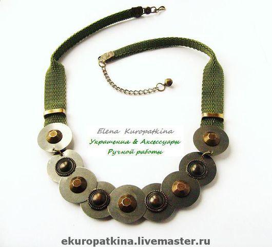 """Колье, бусы ручной работы. Ярмарка Мастеров - ручная работа. Купить Ожерелье """"Саламандра"""". Handmade. Украшение, необычное украшение, тесьма"""