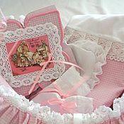 Подарки к праздникам ручной работы. Ярмарка Мастеров - ручная работа Подарки для новорожденных. Подарочная корзинка. Handmade.