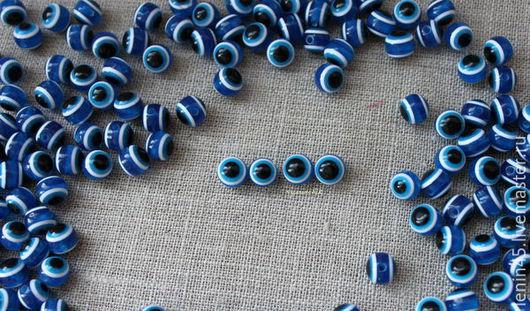 Куклы и игрушки ручной работы. Ярмарка Мастеров - ручная работа. Купить Бусины-глазки 8 мм. Handmade. Тёмно-синий