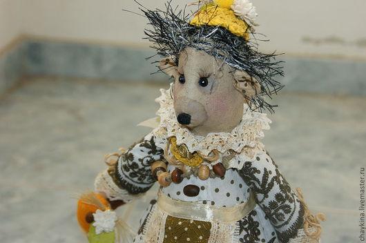 Ароматизированные куклы ручной работы. Ярмарка Мастеров - ручная работа. Купить Ежиха Аглая Захаровна. Handmade. Бежевый, 100% хлопок