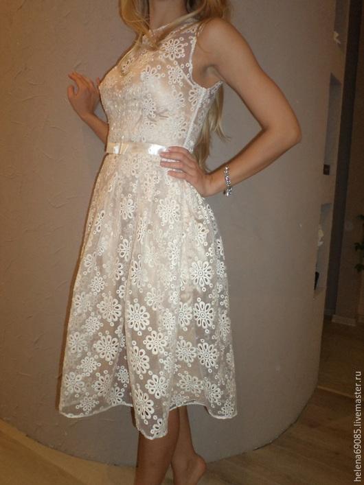 Платья ручной работы. Ярмарка Мастеров - ручная работа. Купить Платье из кружевного полотна. Handmade. Лимонный, кружевное платье