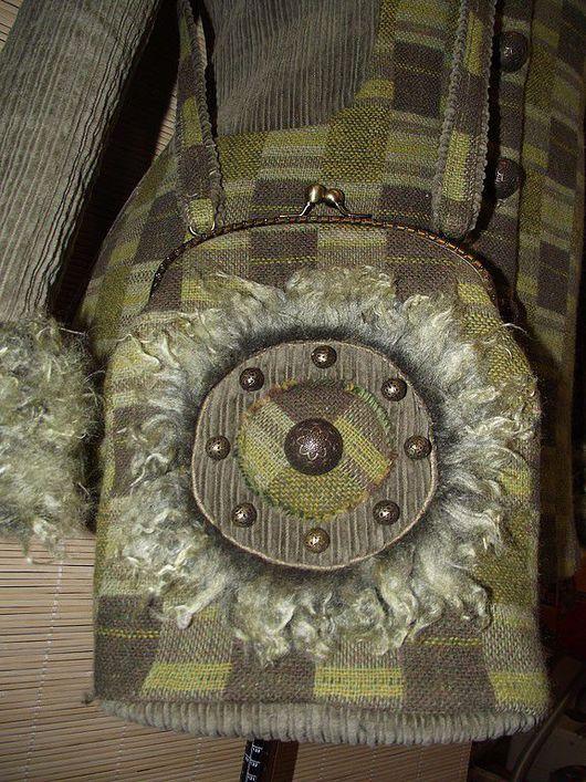 """Верхняя одежда ручной работы. Ярмарка Мастеров - ручная работа. Купить """"Дух леса"""" Пальто с сумочкой. Handmade. Пальто"""