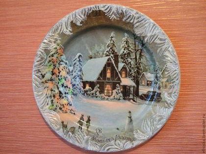 Новогодние тарелки своими руками