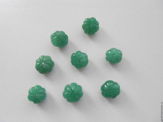Для украшений ручной работы. Ярмарка Мастеров - ручная работа. Купить Бусины из натурального индийского изумруда,11х8мм. Handmade. Зеленый