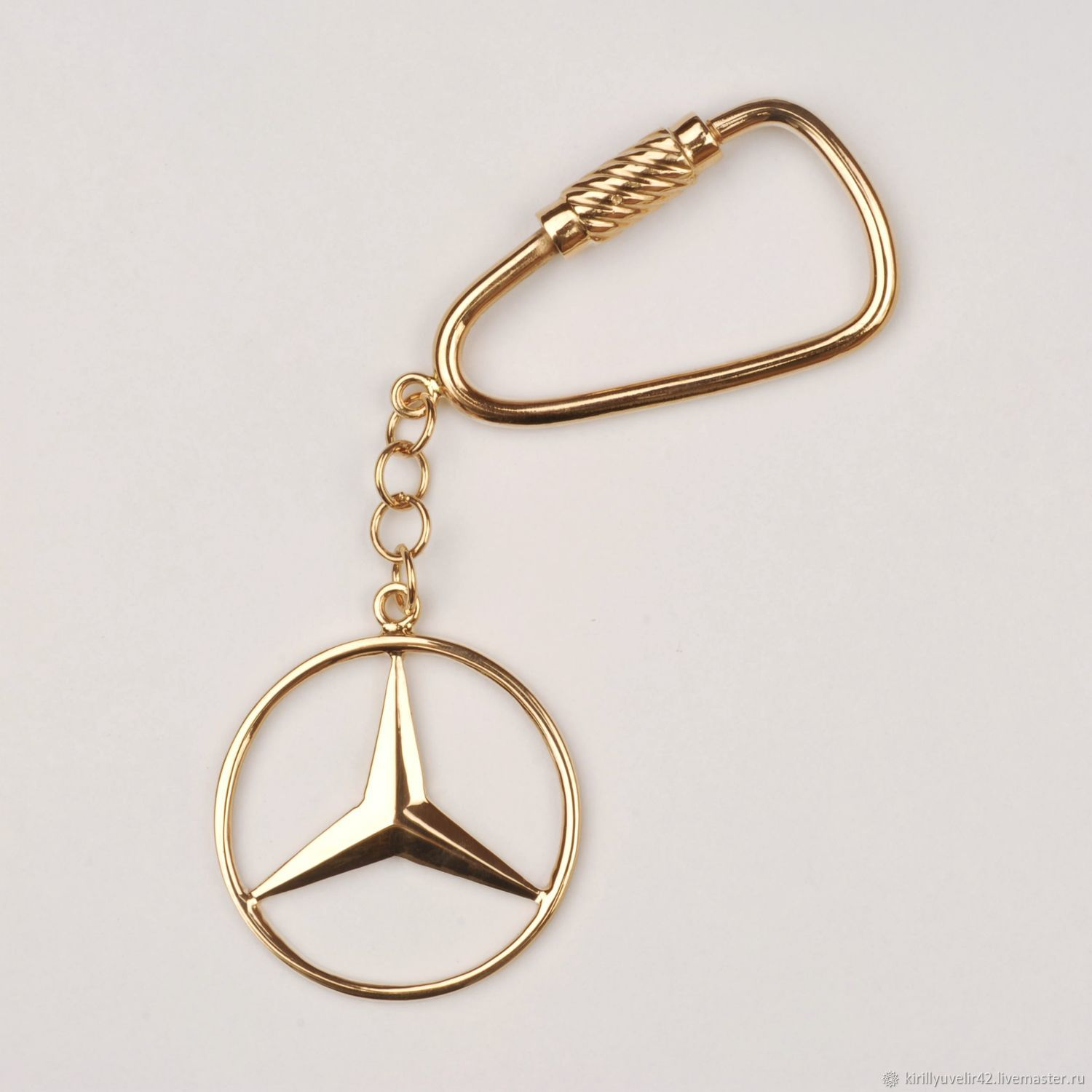 Key rings from silver 925 and gold 585, Key chain, Kemerovo,  Фото №1