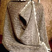 Аксессуары handmade. Livemaster - original item Stole made of 100% linen yarn.Associated with the car.. Handmade.
