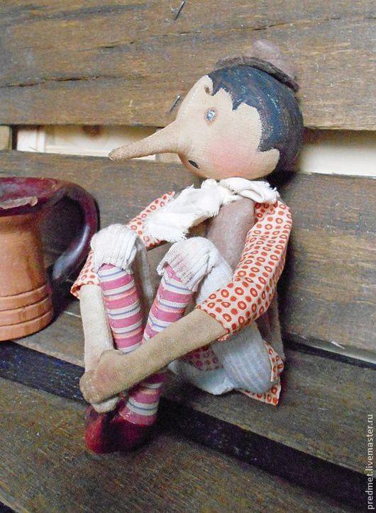 Коллекционные куклы ручной работы. Ярмарка Мастеров - ручная работа. Купить Пиноккио. Handmade. Пиноккио, хулиган