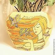 Вазы ручной работы. Ярмарка Мастеров - ручная работа Ваза керамическая Поющий Ветер. Handmade.