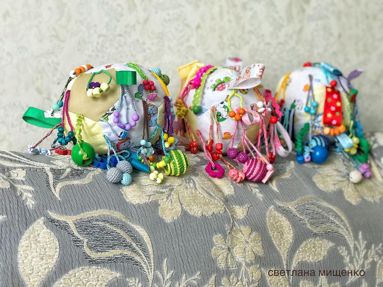 Подарки для новорожденных, ручной работы. Ярмарка Мастеров - ручная работа. Купить Мячик для развития мелкой моторики малышам. Handmade. Бутылочка
