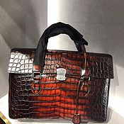 Сумки и аксессуары handmade. Livemaster - original item Men`s briefcase bag, made of genuine crocodile leather.. Handmade.