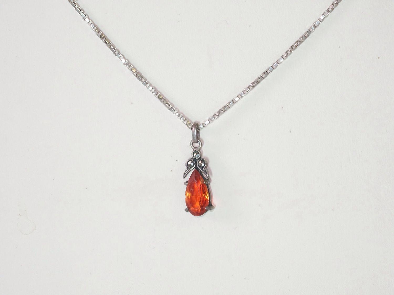 Antique silver pendant on a chain, Vintage pendants, Kaliningrad,  Фото №1