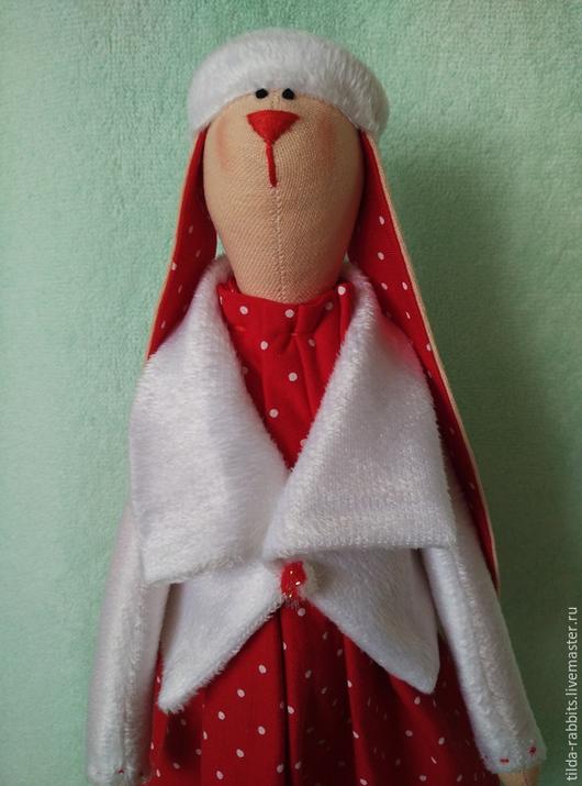 """Куклы Тильды ручной работы. Ярмарка Мастеров - ручная работа. Купить Зайка в стиле """"Тильда"""". Handmade. Ярко-красный, подарок"""