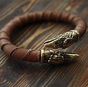 Украшения handmade. Livemaster - original item The genuine leather bracelet - Raven. Handmade.