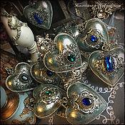 """Подарки к праздникам ручной работы. Ярмарка Мастеров - ручная работа Набор новогодних игрушек """"Blue Emerald"""" (9шт) елочные игрушки. Handmade."""