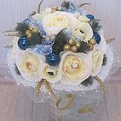 Цветы и флористика ручной работы. Ярмарка Мастеров - ручная работа Новогоднее утро. Ручной букет из конфет. Handmade.