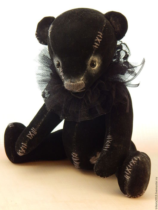Мишки Тедди ручной работы. Ярмарка Мастеров - ручная работа. Купить мишка Лея. Handmade. Черный, искусственная замша