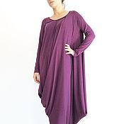 Одежда handmade. Livemaster - original item Purple dress. Asymmetrical dress-tunic