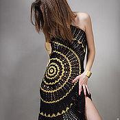 """Одежда ручной работы. Ярмарка Мастеров - ручная работа платье-трансформер """"Черное золото"""". Handmade."""