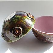 """Посуда ручной работы. Ярмарка Мастеров - ручная работа Пиалы """"В сосновом бору"""", керамика. Handmade."""