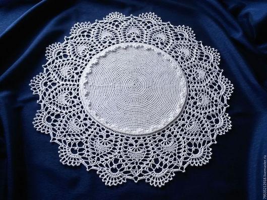 Текстиль, ковры ручной работы. Ярмарка Мастеров - ручная работа. Купить Вязаная крючком салфетка Барыня-2. Handmade. Белый