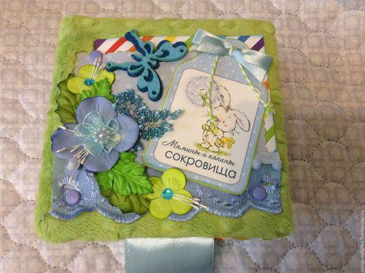 Подарки для новорожденных, ручной работы. Ярмарка Мастеров - ручная работа. Купить Коробочка мамины сокровища. Handmade. Ярко-зелёный