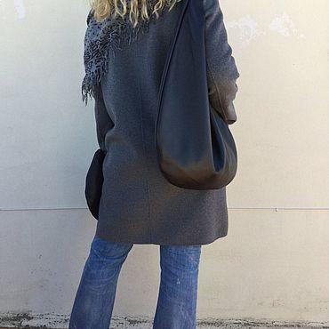 Сумки и аксессуары ручной работы. Ярмарка Мастеров - ручная работа Кожаная сумка круглая, сумка мешок-пакет, хобо стиль сумка мешок. Handmade.