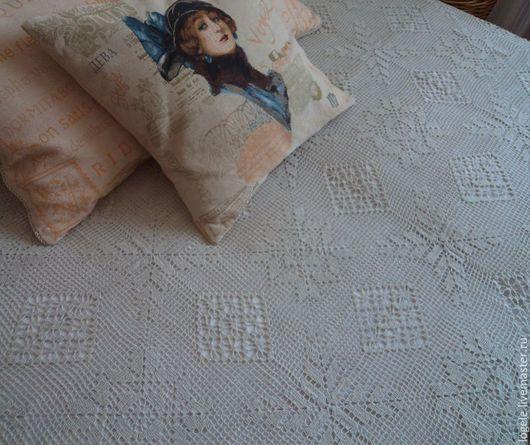 Текстиль, ковры ручной работы. Ярмарка Мастеров - ручная работа. Купить Покрывало хлопковое НЕЖНОСТЬ. Handmade. Крючком, покрывало в спальню