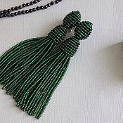 Серьги классические ручной работы. Ярмарка Мастеров - ручная работа Зеленые серьги в стиле Оскар на клипсах. Handmade.